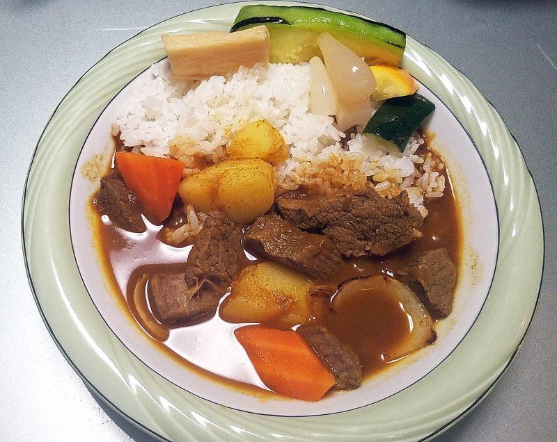 インドカレー、ビーフと野菜
