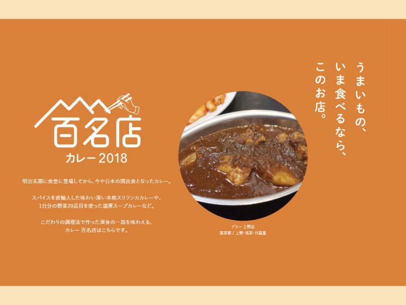 食べログ「カレー百名店」(2018年)に上野店が選ばれました!