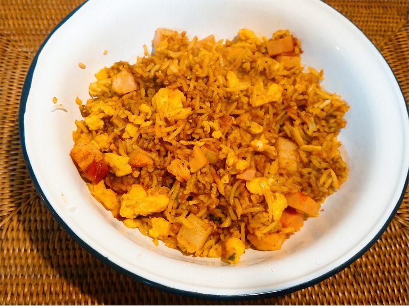 インドの屋台で食べるチャーハンを再現してみた