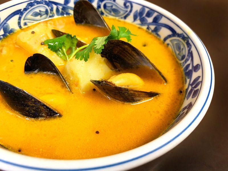 上野店 金曜日のカレー「貝だしスープの南インドカレー」