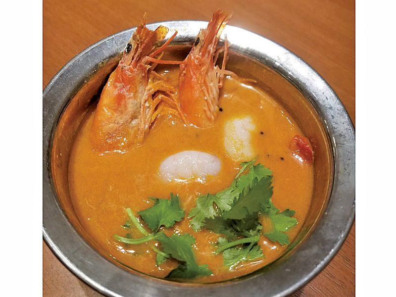 ミッドタウン店 4月のカレー「濃厚な味の海老カレー」
