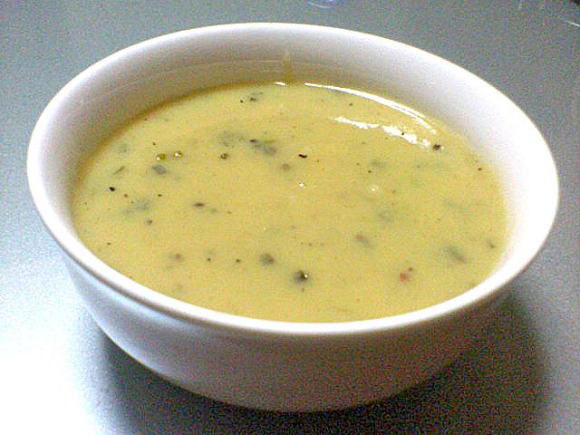 ポテト、ガーリックスープ